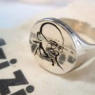 Ezi Zino Jewelry Designer Mahatma Gandhi Political leader ring sterling Silver