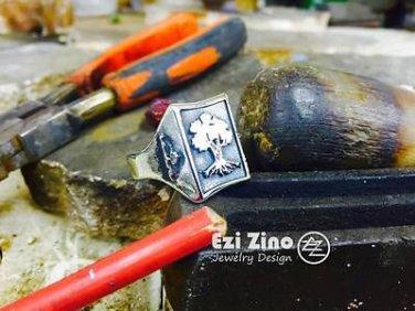 Solid Sterling Silver 925 Golani Israeli Army Idf Zahal  signet Ring by Ezi Zino