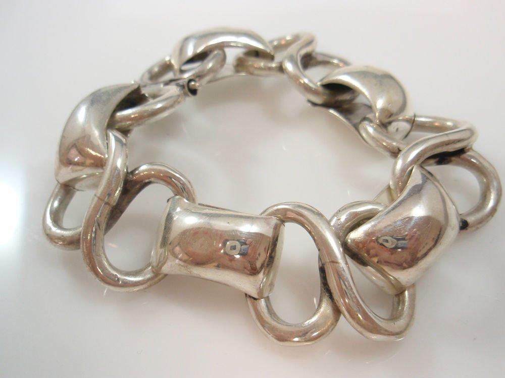 Ezi Zino Jewelry Designer Very Heavy mens Solid Sterling Silver 925 Bracelet