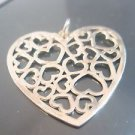 925 Sterling Silver Multi Heart Lace Pendant