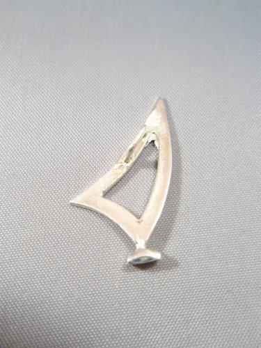 Windsurfing Laser Dinghy Solid 925 Sterling Silver Pendant Necklace