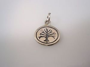 tree of life charm pendant Solid Sterling Silver 925