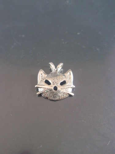 Sterling Silver Kitty Cat Face Pendant