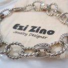 Ezi zino Square Rectangle Oxide sterling silver 925 unisex Bracelet