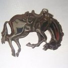 Solid Sterling Silver 925 Vintage Horse Pendant Necklace