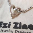 Ezi Zino Sterling Silver duet Heart Love LOVERS Classic Fashion Pendant Unisex