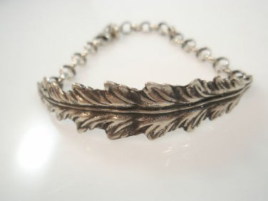 Ezi Zino Jewelry Designer rolo chain Leaf unisex Bracelet Solid Sterling Silver