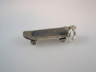 small Skateboard Sterling Silver 925 charm Pendant