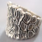Solid Sterling Silver 925 Dry Soil Texture Ring All Size