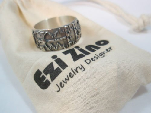 Ezi Zino Designer Jewelry Crop circle Supernatural Silver Sterling 925 Ring