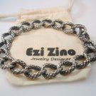 Ezi Zino Designer Jewelry Heavy Dragon  Bracelet Solid Sterling Silver 925