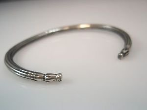unisex sterling silver 925 cuff bangle bracelet