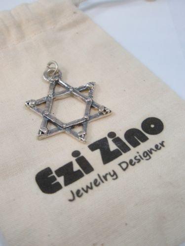 ezi zino Large 3d Star of David Skull Judaica Outlaws israel Style Pendant