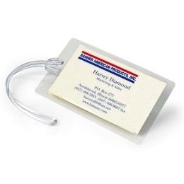 Luggage Tag Laminating Pouches and Plastic Loops 10 MIL (25 Pack)