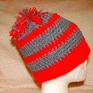 scarlet & grey striped