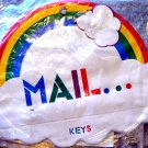 RAINBOW MAIL KEY RACK--New!