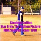 'STAR TREK: THE MOTION PICTURE' CANDID MDA SOFTBALL GAME  4x6--1978!! STEPHEN COLLINS! #8