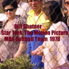 'STAR TREK: THE MOTION PICTURE' CANDID MDA SOFTBALL GAME SHOTS--1978!!  4x6   BILL SHATNER! #15