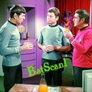 STAR TREK Original Film Slide AND Color 5x7 Pic#91 1968--Spock, Bones & Scotty!