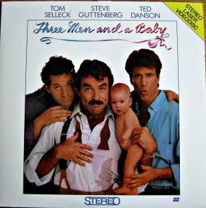 THREE MEN AND A BABY Laser Disc (1987)...SEALED!! Tom Selleck, Steve Guttenberg