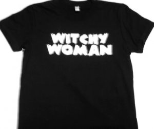 Witchy Woman Girly Tee Size Large