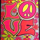 Love Black Light Fabric Tapestry Poster
