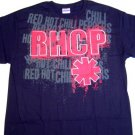 Red Hot Chili Peppers Repeat Logo Tee Size Large