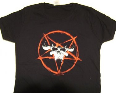 Danzig Pentagram Skull Girly Tee Size Small