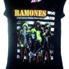 Ramones Stripe Girly Tee Size Large