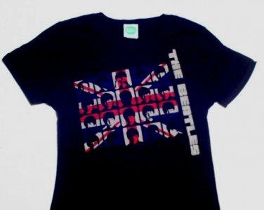 Beatles UK Invasion Girly Tee Size Medium