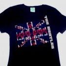 Beatles UK Invasion Girly Tee Size Large