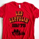 Zep Earls Court Red Ladies T-Shirt Size Large