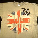 The Who Faded Union Jack Grey Tee Size Large
