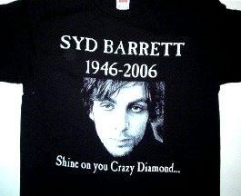 Syd Barrett Pink Floyd Tribute Tee Size Small