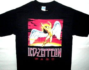 Zeppelin Swan Song Icarus-Runes Tee Size Medium