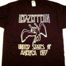 Led Zeppelin 77 Tour Dates Tee Size Medium
