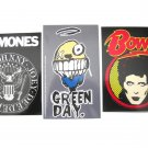 Punk Rock Sticker Set David Bowie, Ramones, Green Day