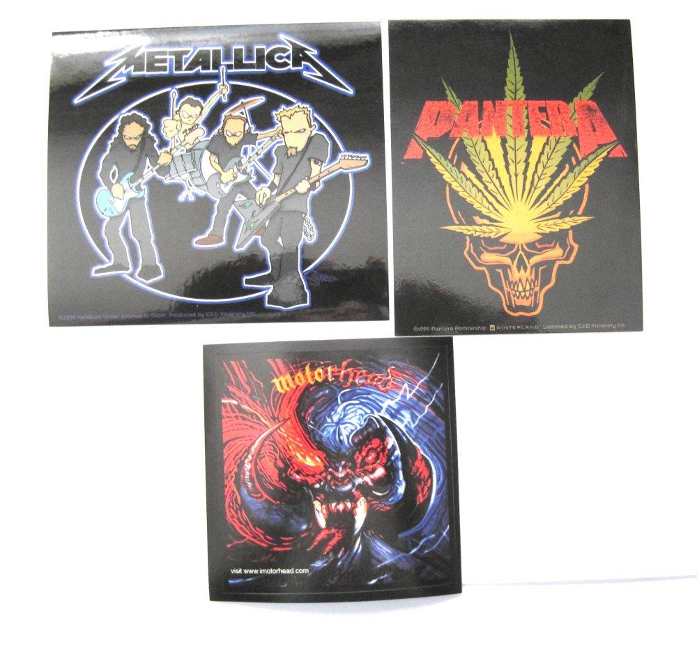 Rock Heavy Metal Sticker Set Motorhead, Metallica Pantera
