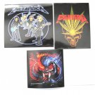Rock Heavy Metal Sticker Set Motorhead, Metallica Pantera