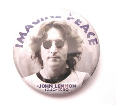 John Lennon Imagine Button Pin