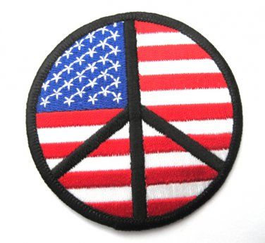 USA Peace Round Patch