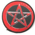 Red Pentacle Sew On Patch