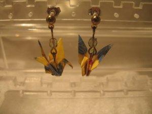 Origami Crane Earring #1