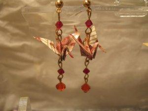 Origami Crane Earring #2