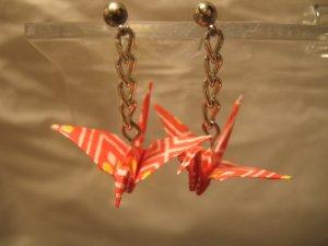Origami Crane Earring #4