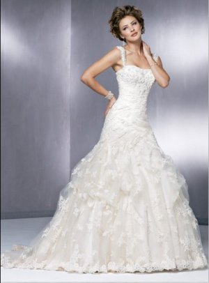 fashion lace wedding dress 2011 EC33