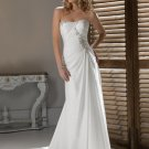 chiffon rhinestone bridal wedding dress 2011 EC48