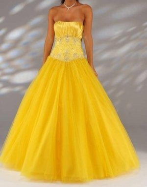 fashion yellow Prom dresses 2011 EP7