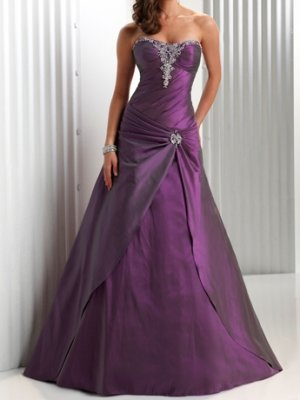 fashion taffeta purple Prom dresses 2011 EP14