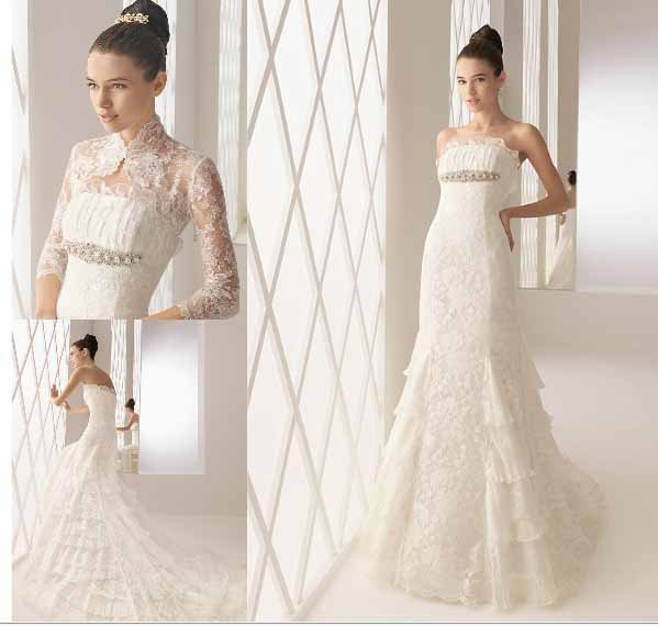 new collection rhinestone and swarovski lace wedding dress 2011 EC134